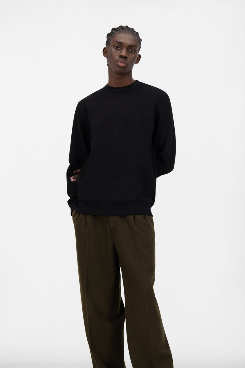 BLACK DERIB SWEATER