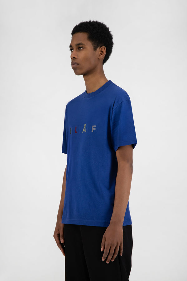 CHAINSTITCH TEE ROYAL BLUE