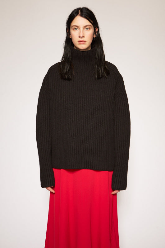 KAMANDA L-WOOL KNIT BLACK
