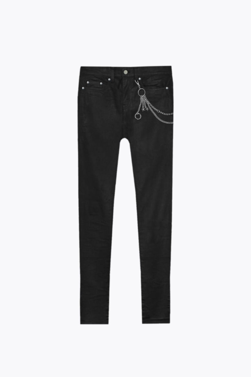 WAXED FLARE JEANS