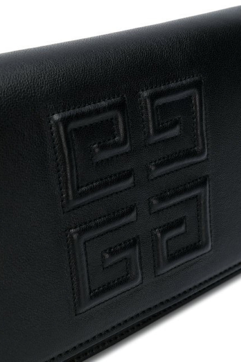 GIVENCHY LOGO EMBOSSED CHAIN WALLET