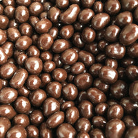 Coffee beans covered in dark chocolate,