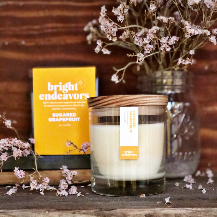 Bright Endeavors Candle: Sugared Grapefruit