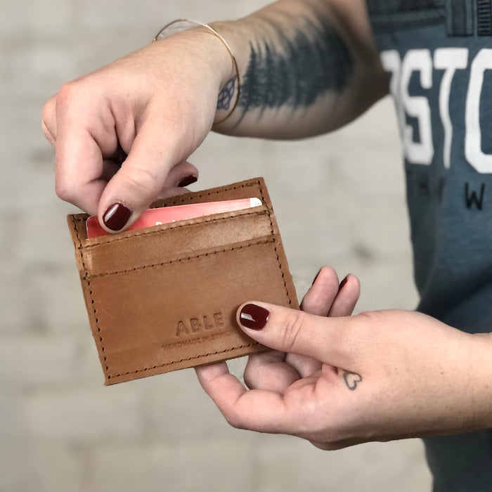 Able Wallet: Alem Card Case (Cognac)