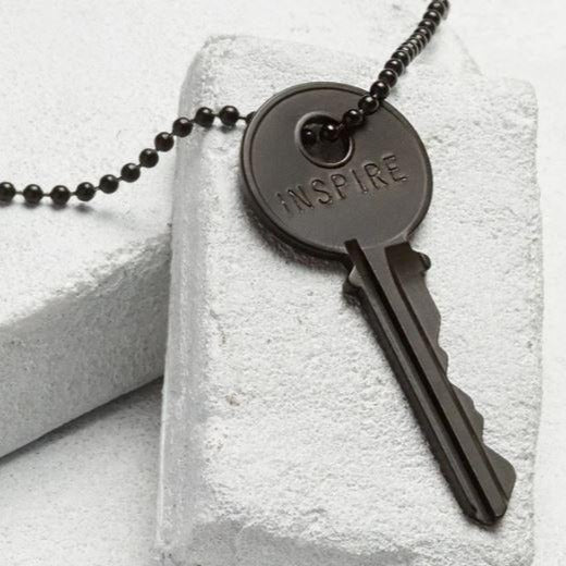 Giving Key Necklace: Matte Black (Inspire)
