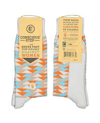 Conscious Step Socks: Prevent Violence Against Women (Triangles)