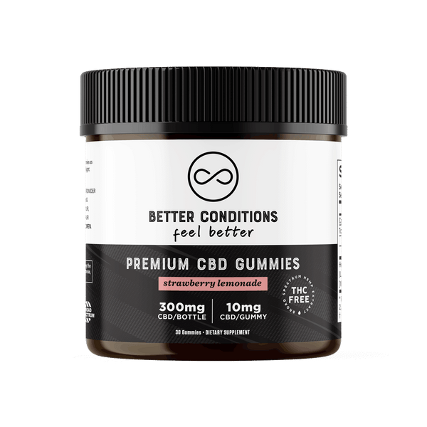 Our Strawberry Lemonade CBD gummies are made with premium, broad-spectrum CBD oil that is always 100% THC-Free and Third Party Lab Tested. Each gummy has 10mg of premium, broad-spectrum CBD. These CBD Gummies taste delicious, have no weird aftertaste, and are an excellent way to try CBD for the first time or to support an existing wellness regimen.