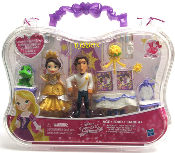 Disney Princess Little Kingdom RAPUNZEL'S ROYAL WEDDING Playset & Carry Case New