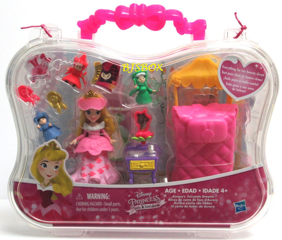 Disney Princess Little Kingdom AURORA'S FAIRYTALE DREAMS Playset with Carry Case New