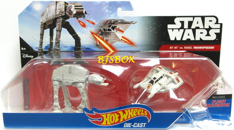 Hot Wheels Disney Star Wars AT-AT Walker vs REBEL SNOWSPEEDER 2 Pack New