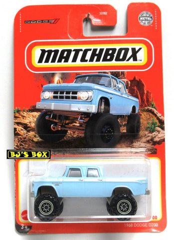 2021 Matchbox 1968 DODGE D200 Blue Power Wagon Crew Cab #93/100 New