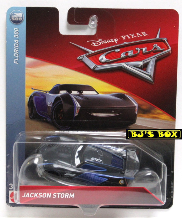 Disney Pixar Cars JACKSON STORM Florida 500 Racer Black Blue 2.0 New