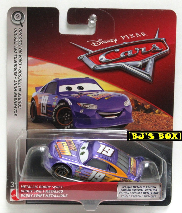 Disney Pixar Cars METALLIC BOBBY SWIFT Scavanger Hunt Racer Purple #19 New
