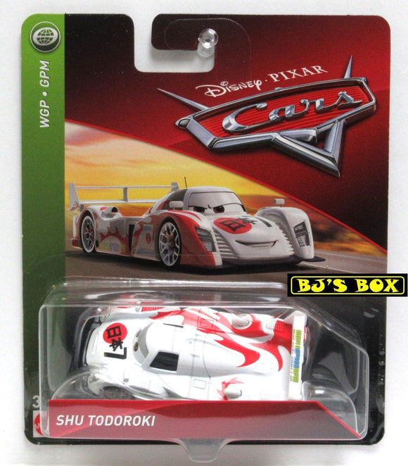 Disney Pixar Cars SHU TODOROKI WGP World Grand Prix Racer White Red New