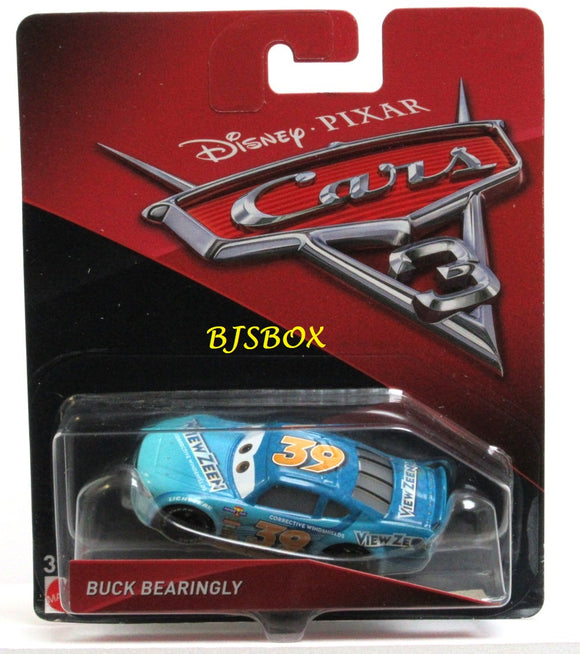 Disney Pixar Cars 3 BUCK BEARINGLY Character Race Car New Sealed Pack