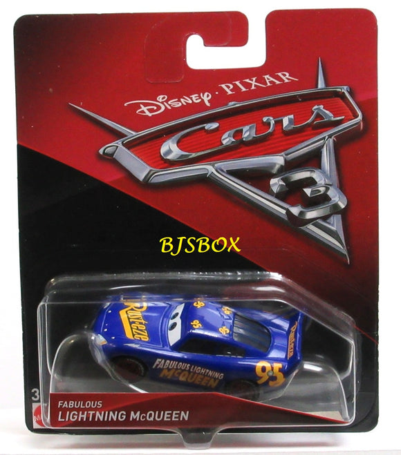 Disney Pixar Cars 3 FABULOUS LIGHTNING McQUEEN Character Race Car New Sealed Pack