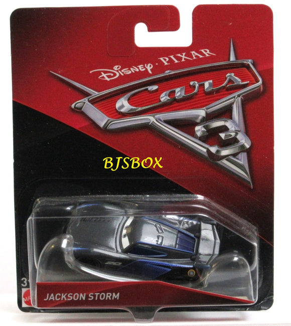 Disney Pixar Cars 3 JACKSON STORM Character Race Car New Sealed Package