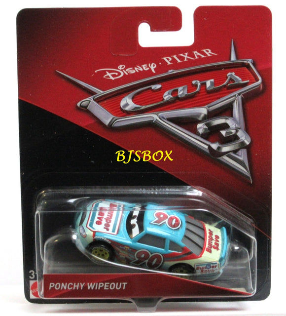 Disney Pixar Cars 3 PONCHY WIPEOUT Character Race Car New Sealed Pack