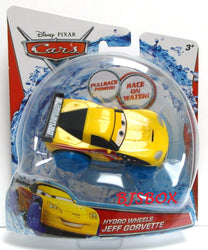 Disney Pixar Cars Hydro Wheels JEFF CORVETTE Bathtub Toy Bath Tub Racer New