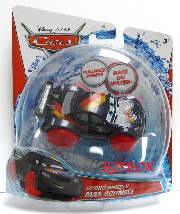 Disney Pixar Cars Hydro Wheels MAX SCHNELL Bathtub Toy Bath Tub Racer New