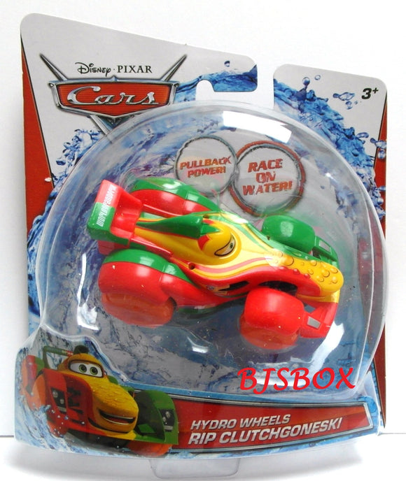 Disney Pixar Cars Hydro Wheels RIP CLUCTHGONESKI Bathtub Toy Bath Tub Racer New