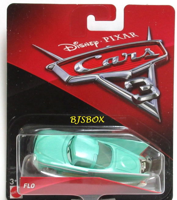 Disney Pixar Cars 3 FLO 1950's GM Concept Car Blue New Sealed