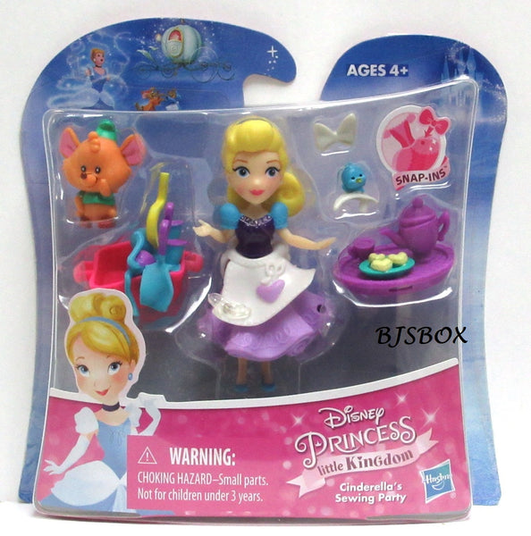 Disney Princess Little Kingdom CINDERELLA'S SEWING PARTY Playset Snap-Ins New
