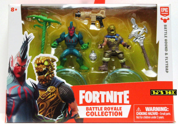 Fortnite BATTLE HOUND & FLYTRAP Battle Royale Collection 2 Pack Figures & Accessories New