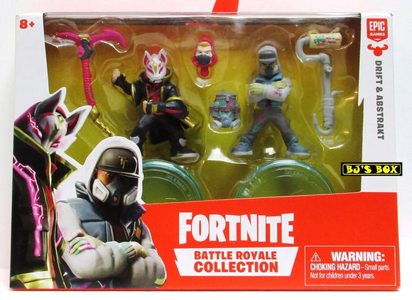 Fortnite DRIFT & ABSTRAKT Battle Royale Collection 2 Pack Figures & Accessories New