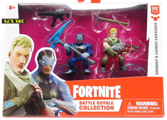 Fortnite SERGEANT JONESY & CARBIDE Battle Royale Collection 2 Pack Figures & Accessories New