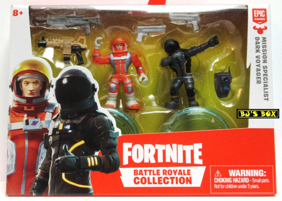 Fortnite MISSION SPECIALIST & DARK VOYAGER Battle Royale Collection 2 Pack Figures & Accessories New