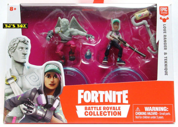 Fortnite LOVE RANGER & TEKNIQUE Battle Royale Collection 2 Pack Figures & Accessories New