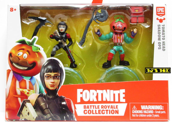 Fortnite TOMATO HEAD & SHADOW OPS Battle Royale Collection 2 Pack Figures & Accessories New