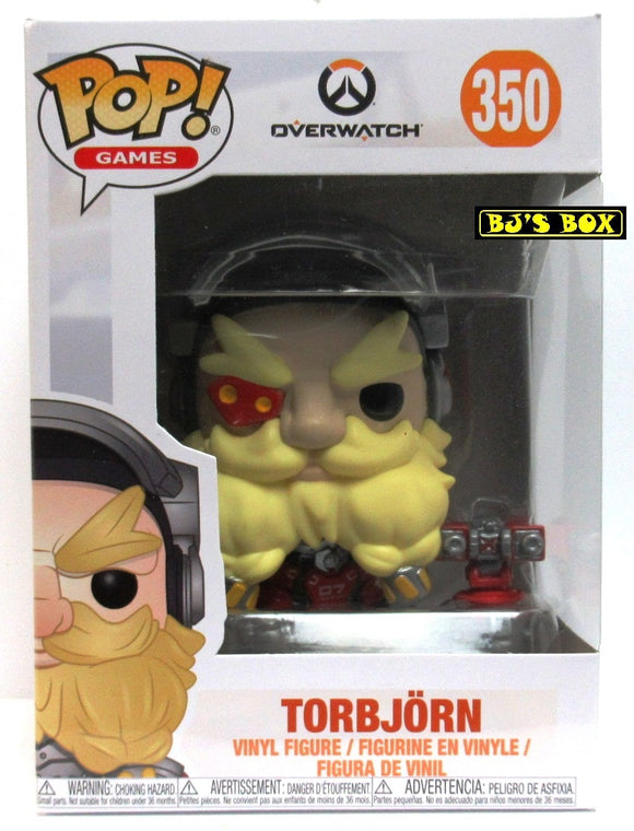 Funko Pop Games Overwatch #350 TORBJORN Vinyl Figure with Accessories New