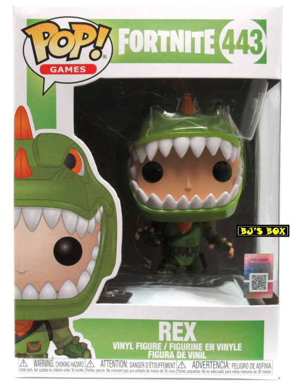 Funko Pop Games Fortnite #443 REX Vinyl Figure T-Rex Dinosaur New