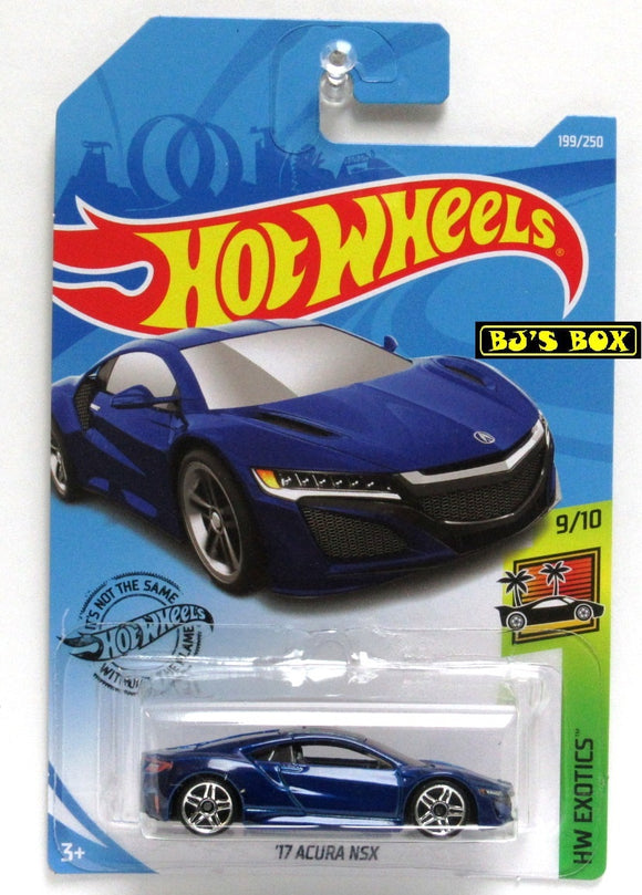 2019 Hot Wheels '17 ACURA NSX Blue 9/10 HW Exotics 199/250 New