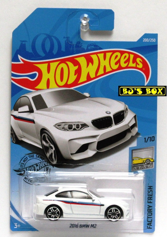 2019 Hot Wheels 2016 BMW M2 1/10 White HW Factory Fresh 200/250 New
