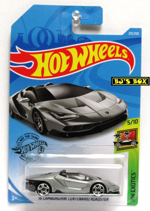 2019 Hot Wheels '16 LAMBORGHINI CENTENARIO ROADSTER 5/10 HW Exotics 213/250 New