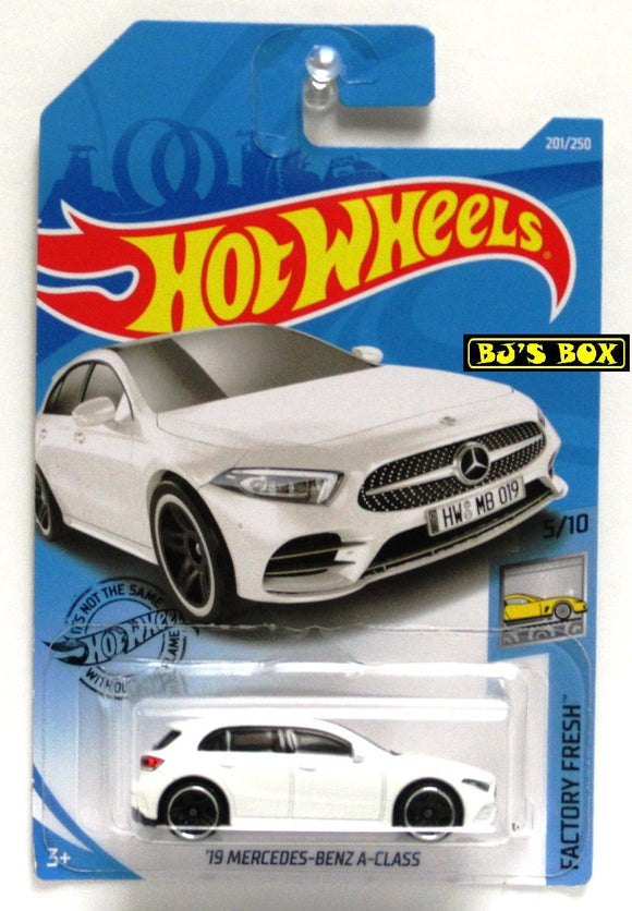 2019 Hot Wheels '19 MERCEDES-BENZ A-CLASS White 5/10 HW Factory Fresh 201/250 New