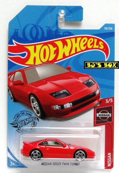 2019 Hot Wheels NISSAN 300ZX TWIN TURBO 3/5 Red Nissan Series 110/250 New