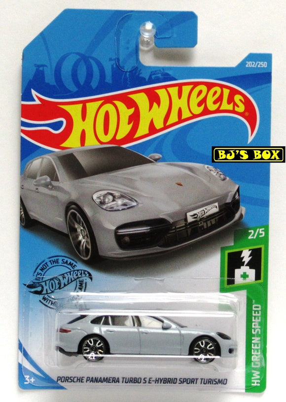 2019 Hot Wheels PORSCHE Panamera Turbo S E-Hybrid Sport Turismo #202/250 Gray New