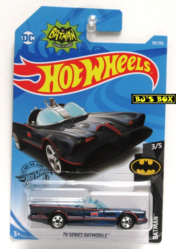 2019 Hot Wheels TV SERIES BATMOBILE 118/250 Original Classic Batman 3/5 New