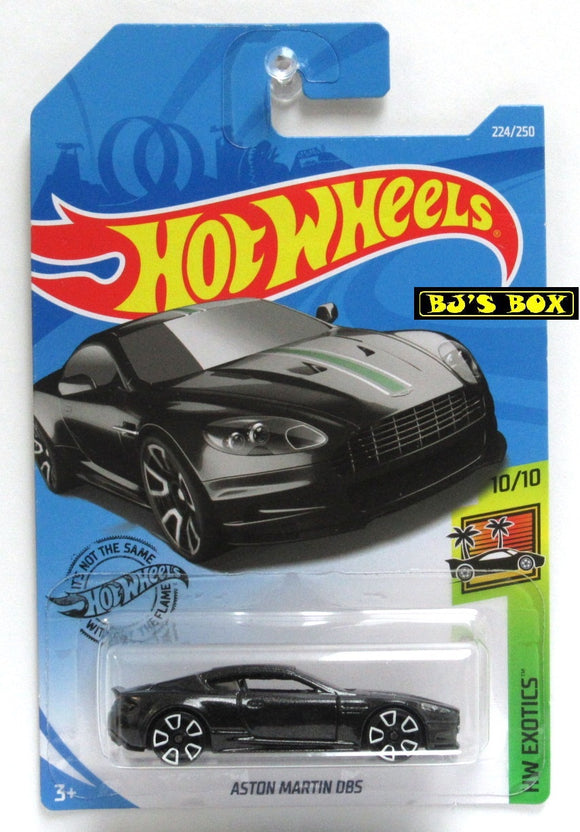 2019 Hot Wheels ASTON MARTIN DBS HW Exotics 10/10 Black Sports Car #224/250 New