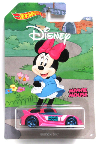 2019 Hot Wheels Disney Mickey & Friends MINNIE MOUSE QUICK N SIK #2/8 New