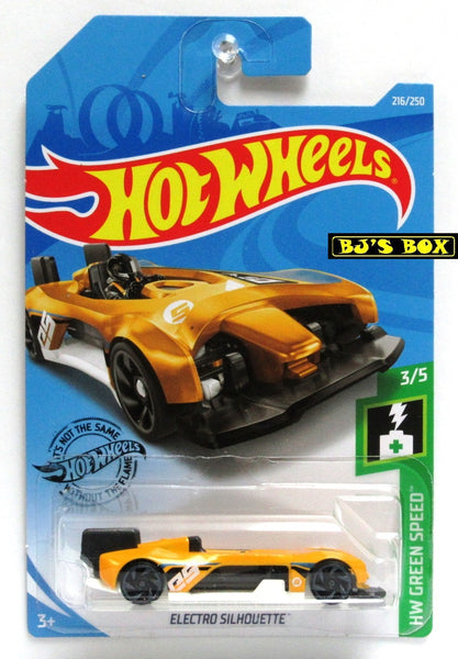 2019 Hot Wheels ELECTRO SILHOUETTE 3/5 HW Green Speed Yellow #216/250 New