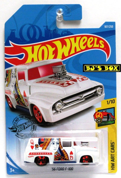 2019 Hot Wheels HW Art Cars 56 FORD F-100 Panel 1/10 Queen Hearts #187/250 New