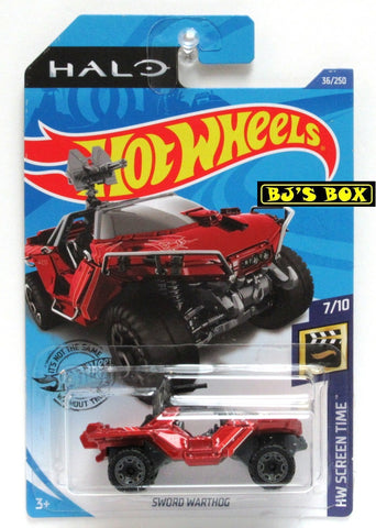 Hot Wheels 2020 HALO SWORD WARTHOG 7/10 HW Screen Time 36/250 New