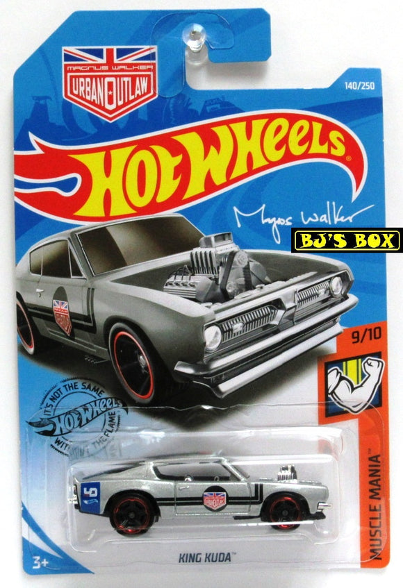 2019 Hot Wheels 'KING KUDA #140/250 HW Muscle Mania 9/10 Silver Barracuda New