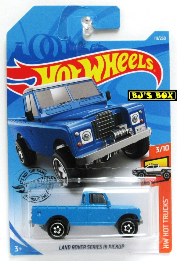 2019 Hot Wheels LAND ROVER SERIES III PICKUP #111/250 HW Hot Trucks 3/10 New