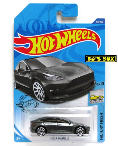 Hot Wheels 2020 TESLA MODEL 3 Gray 9/10 Factory Fresh Series 112/250 New